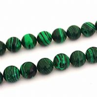 Malachite Round Beads 6mm 16 Inch